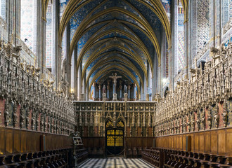 Interior of the Albi Cathedral - Cathedral Basilica of Saint Cecilia, France