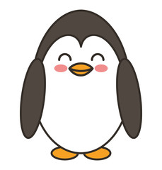 cute penguin animal tender isolated icon