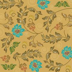 batik sarong pattern background in Thailand, traditional batik s