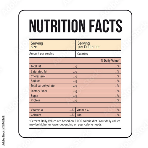 Nutrition facts label template vector stock image and royalty nutrition facts label template vector stock image and royalty free vector files on fotolia pic 118741575 pronofoot35fo Images