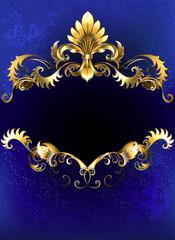 Blue luxury banner