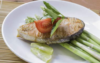 A seafood is fried fish.