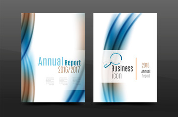 A4 size annual report business flyer cover