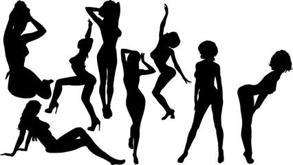 セクシーな女性のシルエット