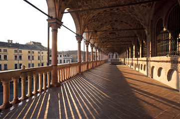 The loggia of the palace della Ragione, the ancient seat of the courts citizens of Padua.