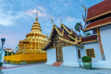Wat Phra Sri Chomtong or Phra That Chom Thong in Chiangmai province of Thailand