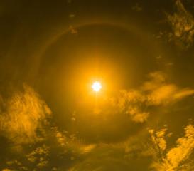 Corona sun or optical phenomenon