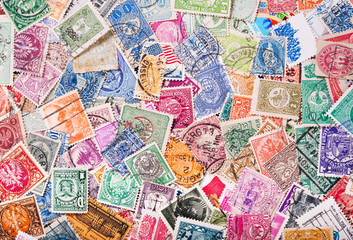 Old postage stamps from various countries