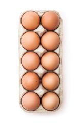 Organic Egg Pack Isolated on White