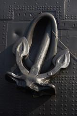 black anchor on a black Board
