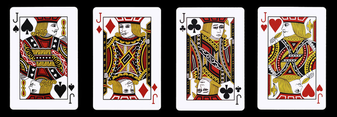 4 Jack in a row - Playing Cards