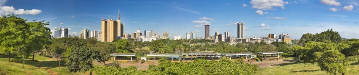 Wall Mural - Nairobi Skyline And Uhuru Park Panorama, Kenya