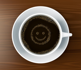 Coffee with a smile