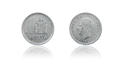 Coin 1 peseta. Spain. 1987