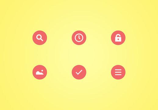 Circular Material Icon Set