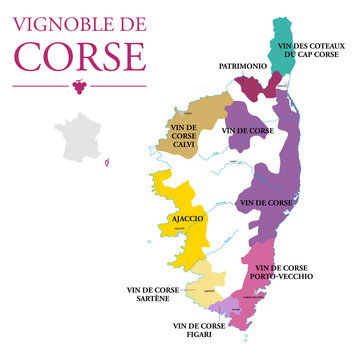 Carte du Vignoble de Corse