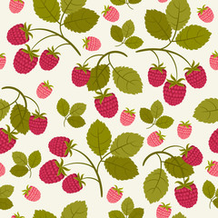 Raspberry seamless wallpaper
