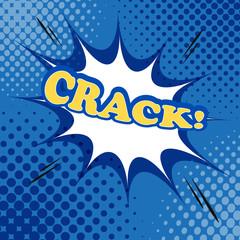 Crack comic bubble text