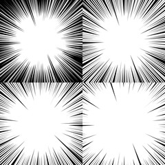 Set of abstract comic book explosion backgrounds