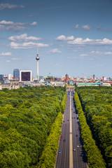 Wall Mural - Berlin skyline with Tiergarten park in summer, Germany