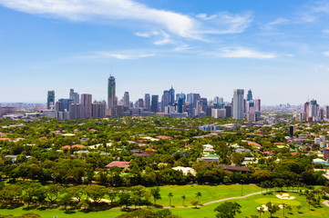 Birds eye view of Manila city (Philippines)