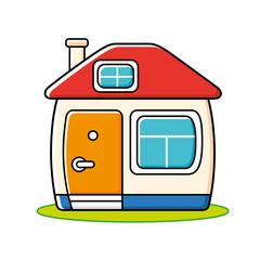 Cartoon house icon.