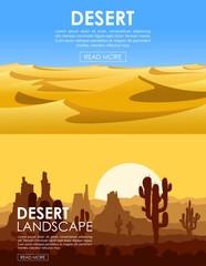 Desert vector set