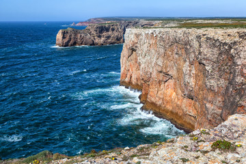 Wall Mural - North shore of Cape St.Vincent, Sagres, Portugal