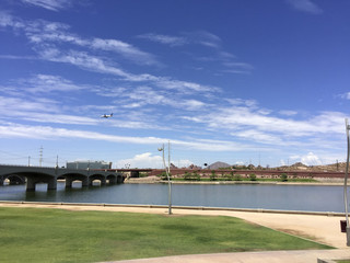 Mill Avenue Bridge over Salt Lake River, Tempe, AZ