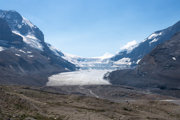 Athabasca Glacier in Icefield Parkway, Jasper National Park, Alberta, Canada, taken in July 2014