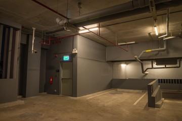 Parking garage in modern building