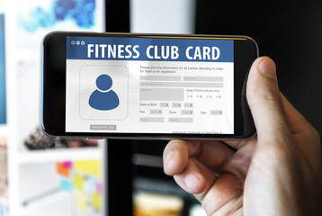 Fitness Club Card Identification Data Information Workout Concep