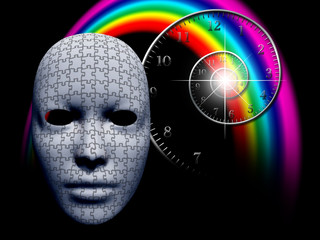 Puzzle mask and time spiral