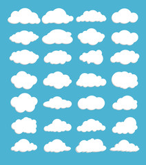 Vector of Clouds set for design work