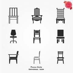 Chair icon set