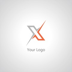 Stylish typographic logo template