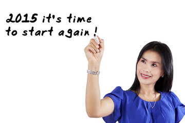 Woman suggests to start again