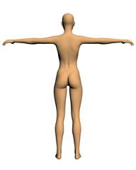 Realistic vector woman