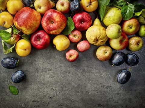 various fresh fruits