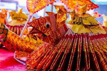 Dowry ceremony at Chinese Hungry Ghost festival (Por Tor) at old