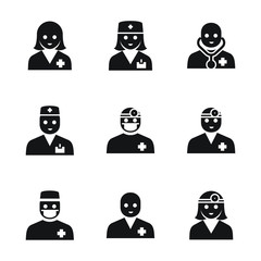 Doctor vector icons