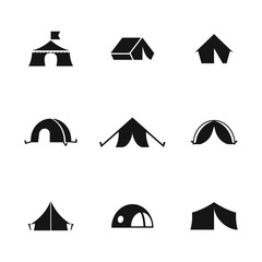 Tent vector icons