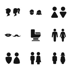 Restroom vector icons