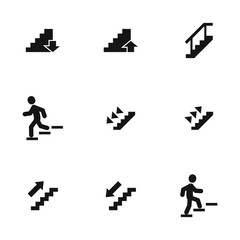 Stairs vector icons