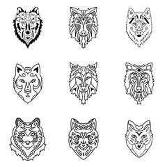 Wolf vector set.