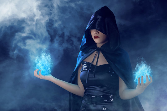 Beauty asian witch woman