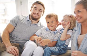 Joyful Young Family