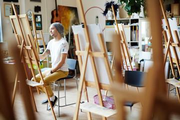 Young Man in Art Studio