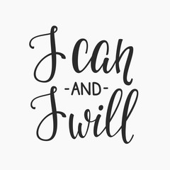 I can and I will quote typography