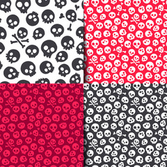 Seamless pattern with skulls. Vector illustration